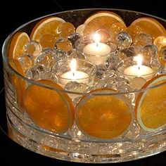 Centerpiece with Orange Slices.
