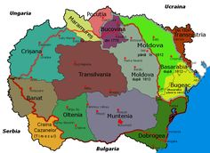 History Of Romania, Romania Map, Republica Moldova, Old World Maps, Imperial State Crown, Fantasy Map, Historical Maps, Ancient Rome, Cartography