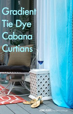 Tie Dye Cabana Curtains for Cheap - Homeology Modern Vintage