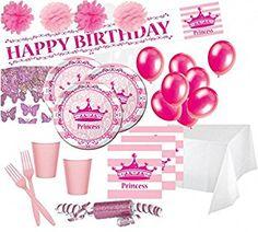 Deluxe Prinzessinnen Party Deko Set 16 Personen