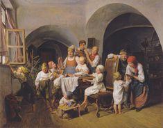 Ferdinand Georg Waldmüller  (Austrian 1793-1865), Christmas morning, 1844, Austrian Gallery Belvedere (4704x3684), Scanning of reproduction