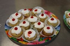 Luau snack. Pineapple upside down cupcakes