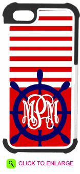 PERSONALIZED BOAT HELM PHONE CASE. #ddp #personalized #boathelm #phonecase #stripes #initials