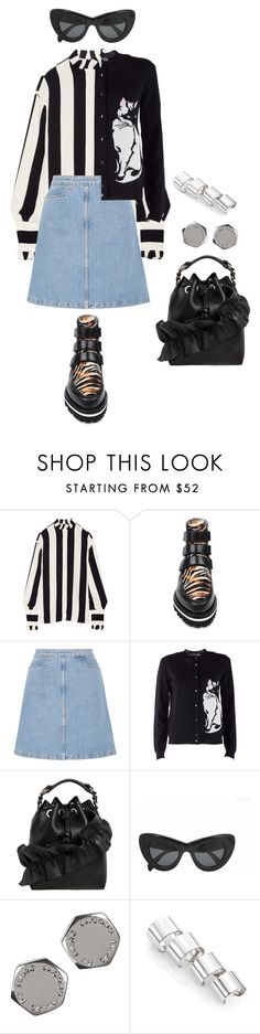 """""""Senza titolo #2123"""" by monsteryay ❤ liked on Polyvore featuring MSGM, M.i.h Jeans, CÉLINE, Marc by Marc Jacobs and Maison Margiela"""
