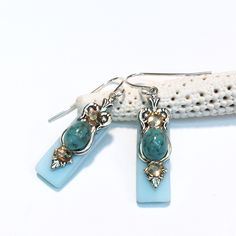 Stained glass earrings.  Great gift!