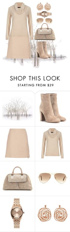 """Total Nude"" by sandra-moreno-2 on Polyvore featuring Home Decorators Collection, Gianvito Rossi, Carven, M&S Collection, Bottega Veneta, Ray-Ban, Nixon, women's clothing, women's fashion and women"