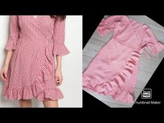 New dress design cutting and stitching step by step New Dress Pattern, Baby Girl Dress Patterns, Dress Sewing Patterns, Sleeves Designs For Dresses, Dress Neck Designs, Blouse Designs, Girls Dresses Sewing, Dresses Kids Girl, New Designer Dresses