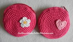 Monederos de colores #ganchillo #crochet #monedero #diy #handmade #hechoamano
