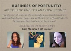 The only person who can change your life is YOU!!! Message me and I will send you the link for this amazing opportunity. It's 45 minutes of your day and could change your life!!!