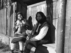 The knitter and her companion  Maramures Romania