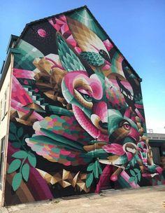 Street Wall Art, Graffiti Wall Art, Street Mural, Urban Street Art, Street Art Graffiti, Mural Art, Amazing Street Art, Amazing Art, Street Painting