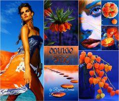 '' Orange & Blue Summer '' by Reyhan Seran Dursun