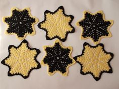 Crocheted doily Handmade doily 6 pcs Vintage star crochet doilies, handmade table mats for home/wedding decor by Handmadebyadina on Etsy Handmade Table, Handmade Gifts, Home Wedding, Crochet Doilies, Gingerbread Cookies, Wedding Decorations, Etsy Shop, Star, Unique Jewelry