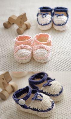 Tutorial: baby bootie crochet pattern #free #crochet #kids #baby #diy #crafts