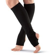 These comfortable Stirrup Legwarmers are perfect for dance class.