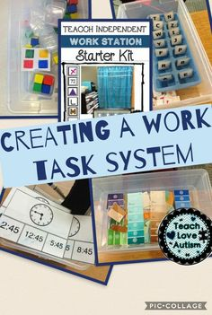 Creating a work task system in your classroom is not as hard as you think.
