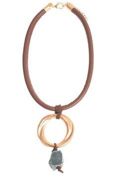 Colier lung cu piatră naturală Diy Jewelry, Personalized Items, Metal, Bracelets, Leather, Charm Bracelets, Metals, Bracelet, Handmade Jewelry