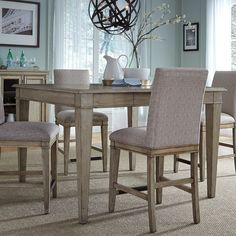 Liberty Furniture Grayton Grove Counter Height Dining Table | from hayneedle.com