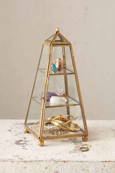 Magical Thinking Tower Glass Box (Urban Outfitters) L x W x H; Jewellery Storage, Jewelry Organization, Jewellery Box, Jewelry Holder, My New Room, My Room, Dorm Room, Home Decor Accessories, Decorative Accessories