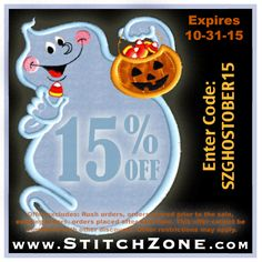 StitchZone October Special 15% off when you enter: SZGhostober15 expires: 10-31-15 #stitchzone #greeklife #greek #apparel #sale #october #fraternity #sorority #special