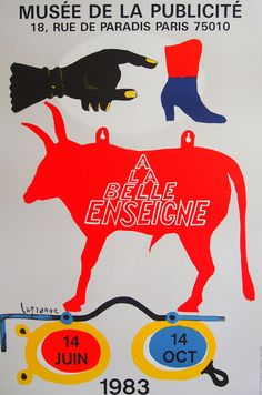 LaGrange Original Exhibition Poster 1983 -  Vintage print - Galerie Maeght