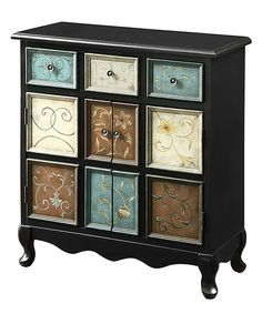 Look at this Monarch Specialties Apothecary Bombay Chest on #zulily today!