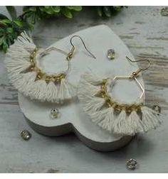 Kolczyki ze sznurka ręcznie robione | Sklep internetowy Handmade Mała Fabryczka Malaga, Earrings, Jewelry, Fashion, Ear Rings, Moda, Stud Earrings, Jewels, Fashion Styles