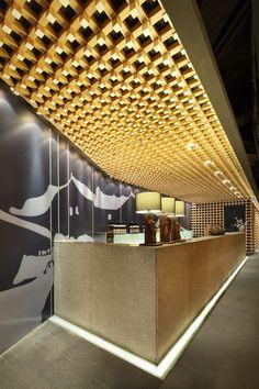 Yakiniku Master Restaurant Design by Golucci International Design - Architecture & Interior Design Ideas and Online Archives Bar Lounge, Retail Interior, Interior And Exterior, Counter Design, Hall Design, Interior Decorating, Interior Design, Hospitality Design, Restaurant Design