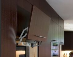 pull-up microwave door/storage