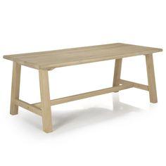 Table de repas en chêne 200cm Naturel - Carmen chêne - Tables rectangulaires - Tables et chaises - Salon et salle à manger - Décoration d'intérieur - Alinéa