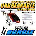 Hercules Unbreakable 3.5CH RC Helicopter w/ Replacement Parts Bundle