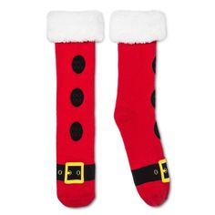 Men's Omg So Ugly Holiday Slipper Socks 6-12, Size: 10-13, Red