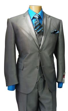 New 3 PC Sharkskin Suit  New Italian Styled 3 PC Sharkskin Suit with Notch Lapels, Double Vents, Flat Front Pants. Super 130 TR.  https://www.suitbusiness.com//shopDisplayProductDetail.asp?catalogid=22910