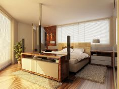 cozy master bedroom design decorating ideas modern electric style cream and brown color scheme