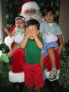 crying santa photos