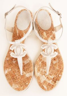 "Chanel flip flips.... I wouldn't mind that ""sandal tan!"""
