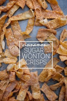 Turn wonton wrappers into a delicious snack dessert. Check out the recipe for Cinnamon Sugar Wonton Crisps on Shutterbean.com!