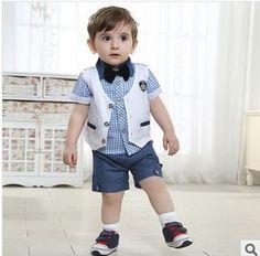 Best 2015 Best Sale Boys Summer Outfits New Hot Fashion Baby Boys Suits Summer Boys Gentlemen Suits Baby Waistcoat + Shirt +Short Set Under $49.22 | Dhgate.Com