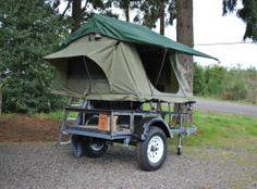 DIY tent camping trailer