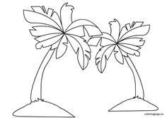 Palm Tree Coloring Pictures - Coloring Pages for Kids and for Adults