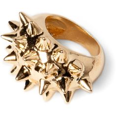 Pull & Bear Ring With Spikes ($13) ❤ liked on Polyvore