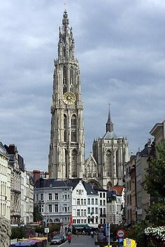 One of my favorite churches - our Lady Cathedral in Antwerp, Belgium.