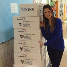 Pics: Laura Marano Helping Donate Books To A School In New York City