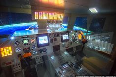 Inside of Russian shuttle buran