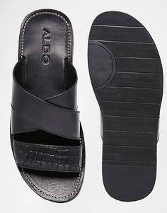 ALDO Rauser Leather Sandals at ASOS. Sandals 2014, Cute Sandals, Black Sandals, Men Sandals, Leather Sandals, Men's Shoes, Shoe Boots, Creative Shoes, Diy Accessories