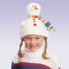 Snowman Hat - How cute is this?