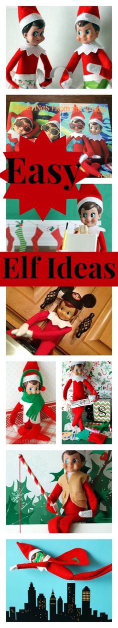 Easy Elf on the Shelf ideas - 10 super fun fashions, accessories, and clothing for your house elf. Including Mickey Ears! #ElfontheShelf #Christmas