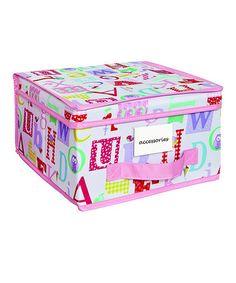 Another great find on #zulily! Owlphabet Medium Storage Box by Laura Ashley Home #zulilyfinds