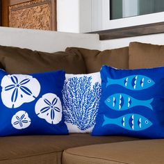 Pillows!!  Beach House Decor Design, Pictures, Remodel, Decor and Ideas