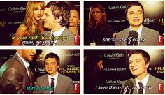 Jen about his rash and Liam walks in front of the camera in the same interview! I need to see this one! I love his reaction! :)